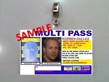 Fifth Element ID Badge-Multi Pass KORBEN DALLAS costume prop Cosplay