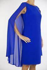 Joseph Ribkoff Sleeveless Dress, Sheer Drape Cover Style 163230 (Regular 298CAN)
