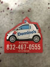 Domino's Pizza Houston TX Store Delivery Car Magnet