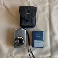 Canon PowerShot Digital ELPH SD880 IS 10.0MP Silver w/ 2 Batteries & Charger