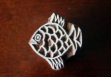 Wooden Small Fish-Soap Stamp -Pottery Stamp -Henna Stamp-Indian wood stamp-Tjap-