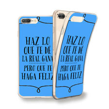 Funda gel dibujo Frase Haz lo que.. azul para Iphone 6 7 8 plus X Xs Xs MAX XR
