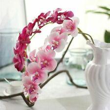 Orquídea Artificial de látex de silicio Flores Accesorios de boda y decoración del hogar