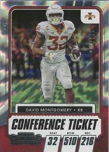2021 Contenders Draft DAVID MONTGOMERY Iowa St / Bears Conference Ticket #65 #d
