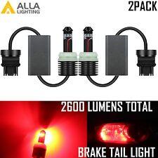 Alla Lighting LED 3157 Brake/Stop Tail Light Bulb Lamp Taillight,Super Bright,2x