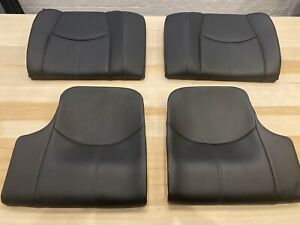 Porsche 911 997 Rear Seats - Black Leather/Silver Grey Stitching.
