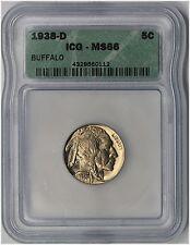 1938-D 5C ICG MS 66 Buffalo Nickel