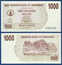 SIMBABWE / ZIMBABWE 1000 Dollars 2006 UNC  P.44