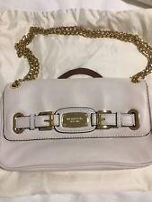 MICHAEL KORS HAMILTON Small Flap Leather Shoulder Bag Vanilla cream