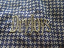 Dryjoys FootJoy Mens Brown Houndstooth Pullover 1/2 Zip Wind Rain Golf Jacket XL