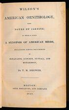 Wilson's American Ornithology 1840 4 woodcuts, 24 plates. tight copy Birds