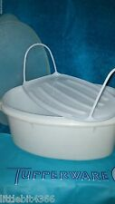 VINTAGE TUPPERWARE WHITE FLAVOR SAVER HAM, CHICKEN KEEPER SAVER # 487 INSERT 506