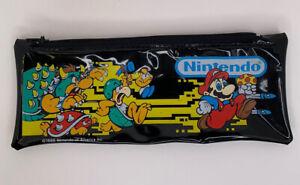 Rare Vintage Nintendo Inc School Kit 1988 Pencil Case Pouch Super Mario