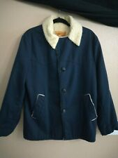 Vintage Sears Western Wear Sherpa Style Lined Chore Coat Jacket Rancher  Sz M
