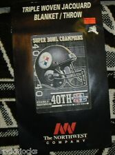 "Pittsburgh Steelers throw Super Bowl CHAMPIONS Blanket tapestry  48"" x 60"" NEW!!"