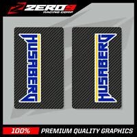 HUSABERG UPPER FORK DECALS MOTOCROSS GRAPHICS MX GRAPHICS CARBON