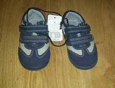 BOYS NAVYMOTHERCARE FIRST WALKERS SIZE INFANT 6 (EUR 23) NEW kids/baby shoes