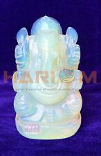 """4"""" Opal Stone Spiritual Hindu God Ganpati Ganesha Mini Figure Statue Gift G040"""