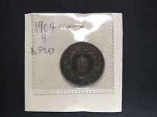 1904 H 1 Cent Coin Canada Edward VII Newfoundland One Cents EF Grade