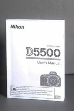 Nikon Genuine D5500 Camera Instruction Book / Manual / User Guide