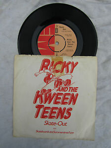 RICKY and the KWEEN TEENS SKATE-OUT / SKATEBOARDS emi 2654 N/M..... 45rpm / rock