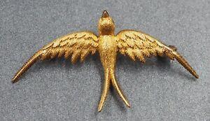 Womens Bird Brooch 15ct Yellow Gold Fine Jewellery