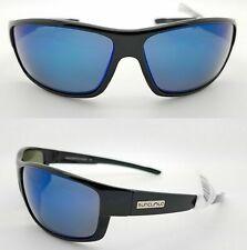 New Authentic Suncloud Voucher Polarized Sunglasses Gloss Black&Blue Mirror Lens
