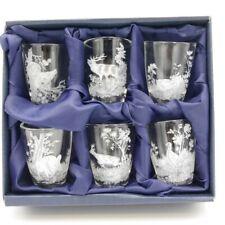 6-teiliges Schnaps Gläser Set Stamper kurze Glas Geschenk Idee Jagdmotiv Neu