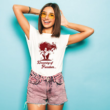 Dreaming of Freedom Women's Floral Tops Short Slave T-Shirt Casual Fashion