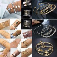 Fashion Women Jewelry Set Stainless Steel Lots Style Cuff Bracelet Bangle Chain