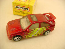 1993 MATCHBOX SUPERFAST #52 RED FORD ESCORT RS COSWORTH NEW IN BOX