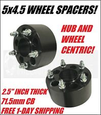 2 Dodge Hubcentric Wheel Spacers 5x4.5 | 2.5 Inch 1/2x20 Dakota Nitro Ramcharger