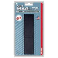 MINI MAGLITE 2-CELL AAA BLACK NYLON FLASHLIGHT BELT HOLSTER USA MADE / BRAND NEW