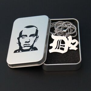 "Hip Hop Eminem RAPPER D12 Stainless Steel Necklace Pendants 28"" Chain Stan Box"