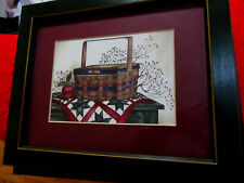 By Laurie Korsgaden basket on top of Quilt with apples/ and berries/