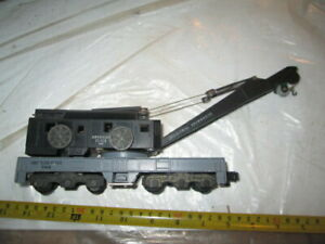 S scale American Flyer 944 Crane car. as is.