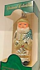 Vintage Commodore Christmas Collectibles Gold Trimmed Santa Figural Ornament 5""