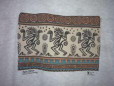 Vintage 80s Aztec Indian Rain Dance T Shirt Gray M