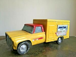 Vintage Large Yellow Pressed Steel NYLINT BRINK'S BANK Toy Truck Model No. 4170