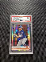 Pete Alonso 2019 Topps Chrome Prism Refractor PSA 9. (14) Card Rookie Lot.