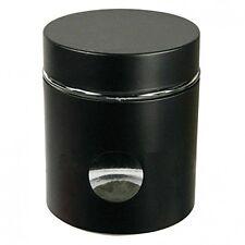 Black Glass Window Canister Jar  Tea Coffee Sugar Pot Storage Container