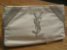 Limited Edition Authentic YSL PARFUMS WHITE MAKEUP BAG EVENING CLUTCH BAG
