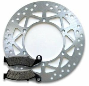 Front High Quality Brake Rotor+Pads for Suzuki DR-Z 250 K (01-07) DR 350 (97-99)