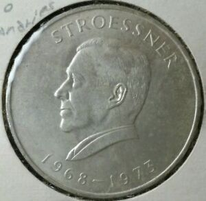1973 Paraguay 300 Guaranies Silver Coin