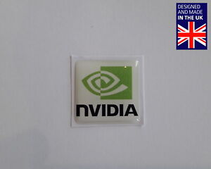 "Nvidia 25 x 25mm 1"" Domed PC Case Badge Logo Decal Riva TNT 256 MX Ti GeForce"