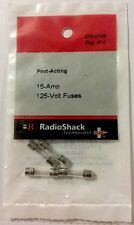 Fast-Acting 15-Amp 125-Volt Fuses #270-0149 By RadioShack NEW