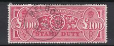 Australia. Australian States Victoria. £100 Stamp Duty Available for Postage.
