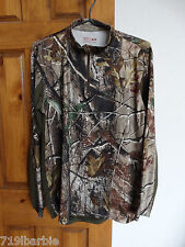 Sports Afield men's long sleeve 1/4 zip pullover camouflage shirt size M