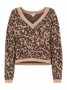 WHISTLES Ladies Beige Multi Jungle Cat Jacquard Knit Jumper XS RRP129 BNWT