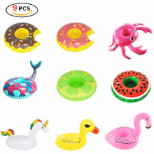 9x Swimming Drink Can Cup Holder Inflatable Floating Pool Bath Beach Summer Toys